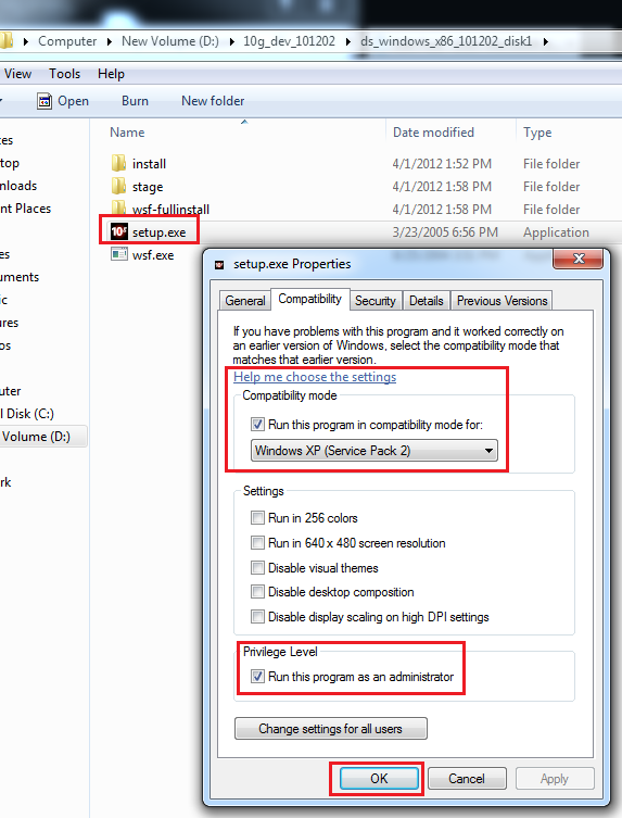 Install Oracle 10g onward database, developer on Windows 7