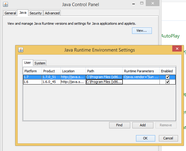 java jre client download