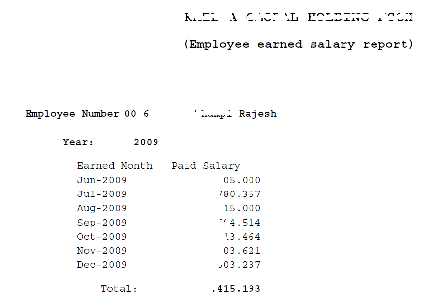 Oracle Payroll | R12 | Simple view for employee paid salaries ...
