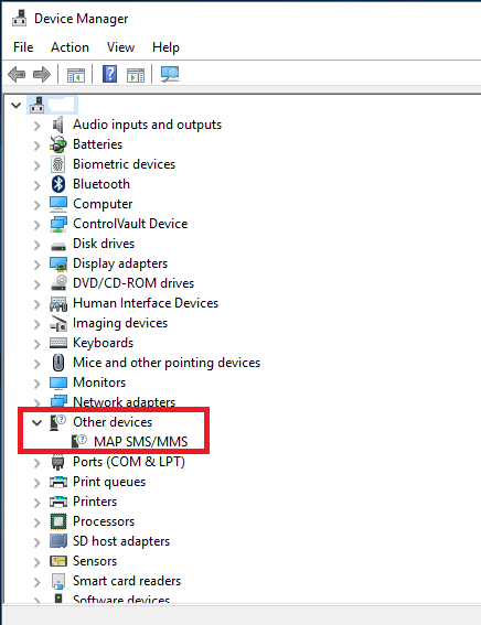 Windows 10 | MAP SMS/MMS Other devices – Duh! Microsoft did
