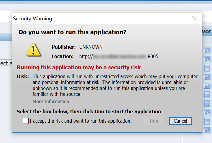 Oracle Application R12(12 0 x)   JRE   UNKNOWN Publisher – Duh