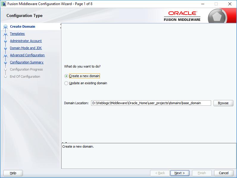WebLogic 12c 12 2 1 3 Installation & configuring for forms
