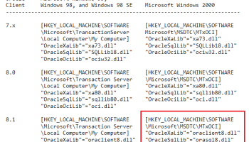 Oracle Linked Server | MS SQL – Duh! Microsoft did it again