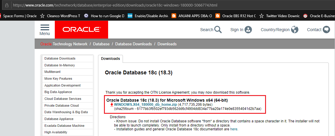 Install Oracle 18c on Windows 10 – Duh! Microsoft did it again